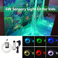6W RGB волоконно-оптический сенсорный свет набор 200 шт * 0 75 мм * 2 м занавес вспышка точечное освещение-водопад детская игрушка сенсорный свет до...