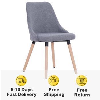 4 szt Nowoczesne krzesła do jadalni do salonu krzesła do jadalni estetycznie i ergonomicznie zaprojektowana tkanina wysokiej jakości krzesła tanie i dobre opinie vidaXL FR (pochodzenie) 800mm Jadalnia meble pokojowe 43 x 43 x 83 cm (W x D x H) Europa i ameryka Jadalnia krzesło 277015 277019 277027 277029
