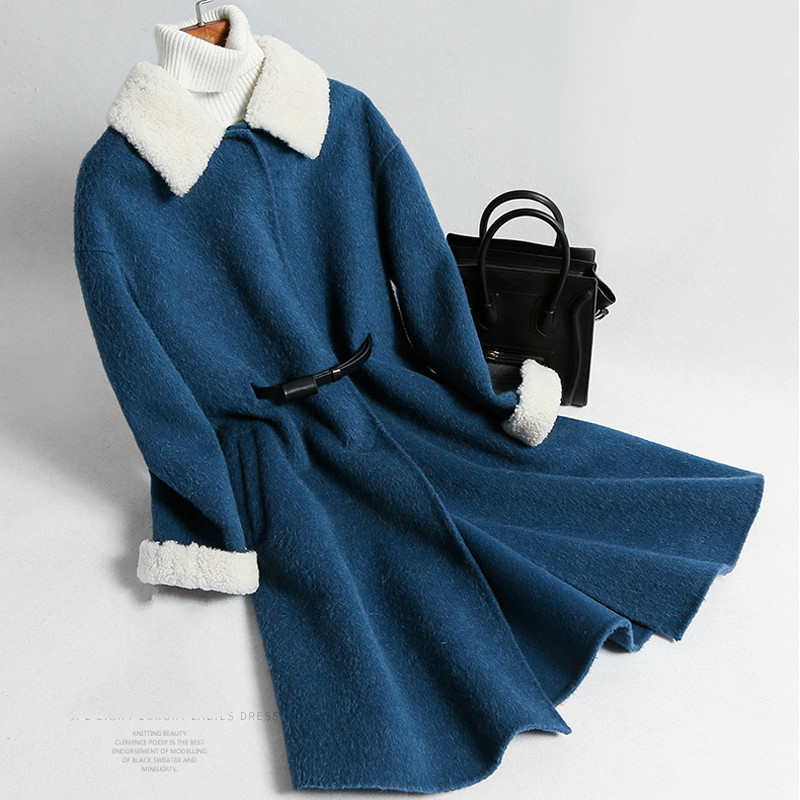 Autumn Winter Coat Women Clothes 2020 Korean Vintage Wool Jacket Streetwear Loose Sheep Shearling Fur Tops Abrigo Mujer ZT3080