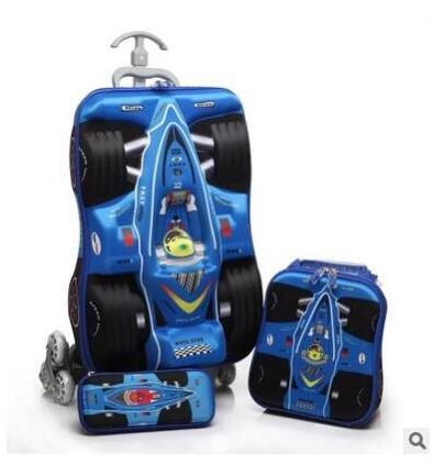 Kids School Wheeled Backpack Bags For Boys Travel Trolley Bags Children Luggage Suitcase School Mochila Trolley Bags With Wheels