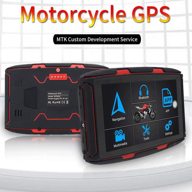 5 zoll Motorrad Fahrzeug Auto GPS Navigation Andriod 4,4 GPS Navigation System DDR 1G ROM 16GB FM WIFI GPS Navigator Freies Karte