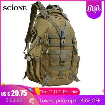 40L mochila De Camping bolsa militar bolsas De viaje para hombres táctico ejército Molle escalada mochila senderismo al aire libre saco De deporte Tas XA714WA