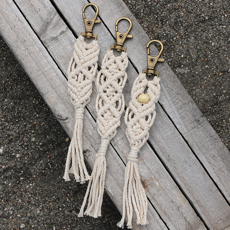 Artilady Macrame Keychain For Women Bohemia Tassel Bag Charm Car Holder Jewelry Gift For Friends Drop Shipping