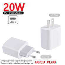 Usb tipo c chargerportable 4.0 3.0 qc pd 18w para iphone 12 11 pro max xiaomi samsung huawei 20w eua ue plug carregador rápido
