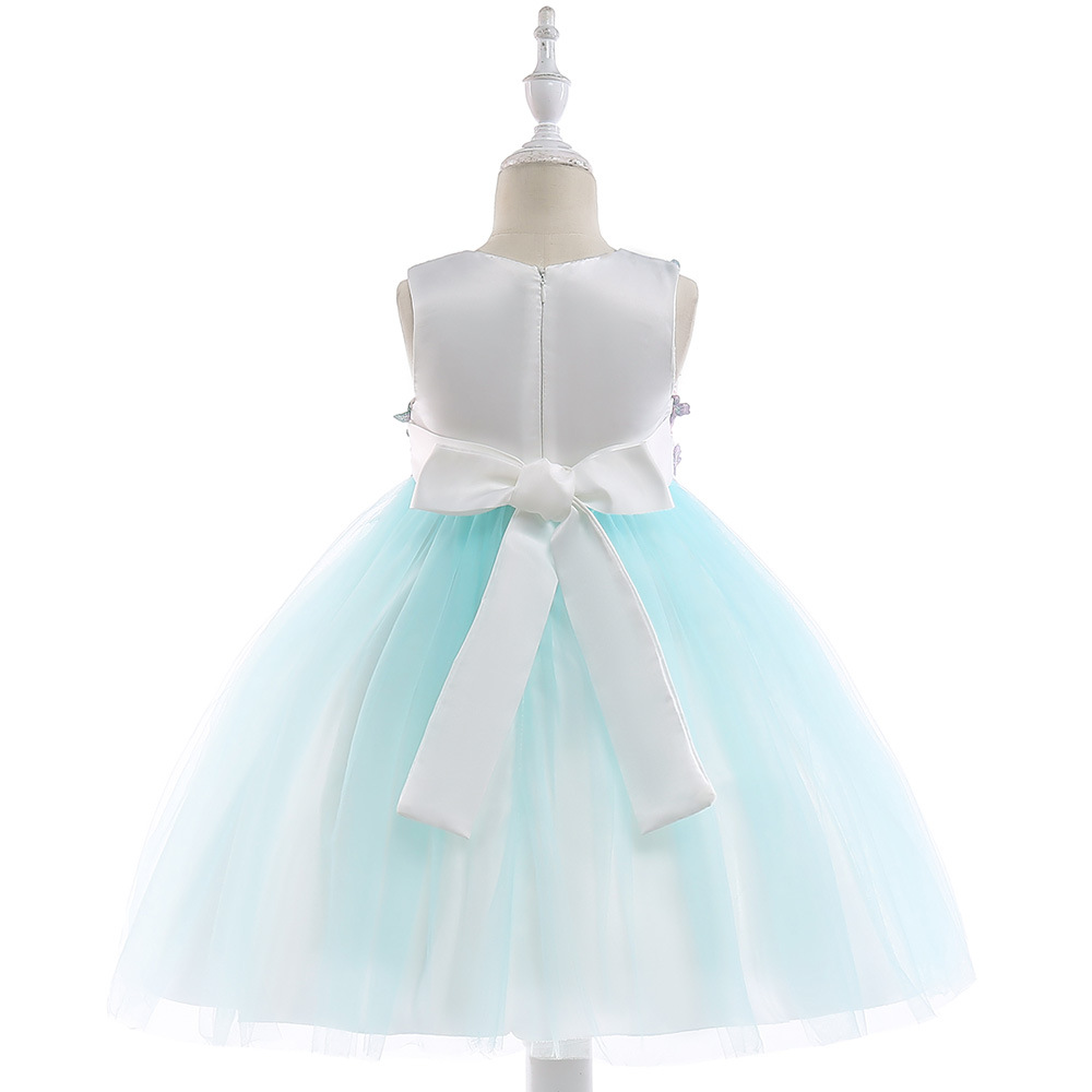 CHILDREN'S Dress Supply Of Goods Girls Gauze Floral-Print One Piece Princess Dress Formal Dress New Style