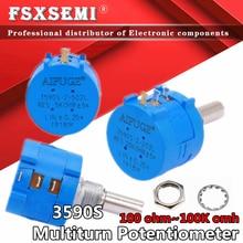 Pcs 3590 3590S 1 1K 50 20 10 5 2K K K K K 100K ohm Precision Potentiometer Resistor Ajustável 3590-2-102 103 502 103 203 503 104