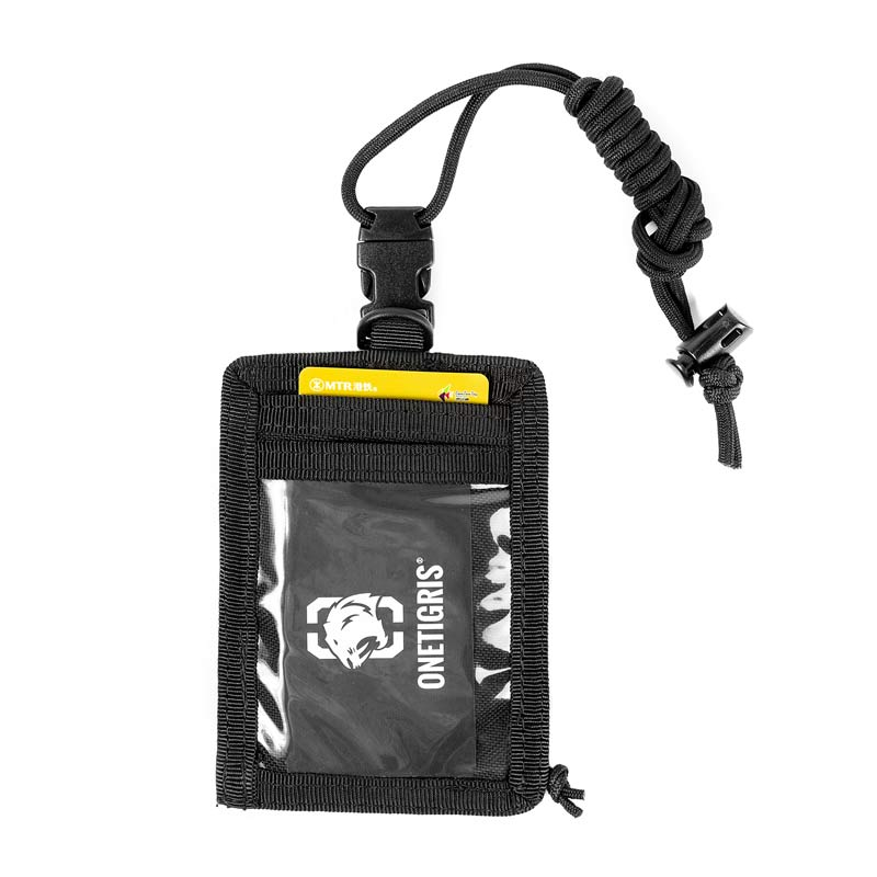 OneTigris Army Fan Tactical ID Card Case Patch Neck Lanyard And Credit Card Organizer Change Purse ID Wallet Holder