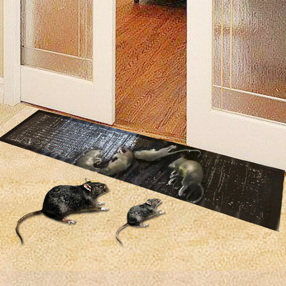 Rantion 1.2 M Mousetrap Efficient Sticky Mice Mouse Rodent Glue Traps Board Super Sticky Rat Snake Bugs Board Household Home Use