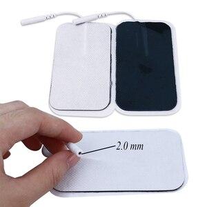 Image 4 - 50pcs 9*5 ซม.แผ่น Electrode Self Adhesive REPLACEMENT TENS ผ้าไม่ทอกายภาพบำบัด ReusableTENS กล้ามเนื้อกระตุ้น Pad