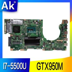AK K501LX Laptop motherboard for ASUS A501L V505L K501LX K501LB K501L K501 Test original mainboard 4G RAM I7-5500U GTX950M(China)