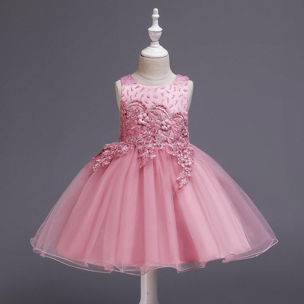 EBay Hot Sales Children Shirt Children Princess Dress Girls Big Boy Sleeveless Catwalks Evening Gown Wedding Dress