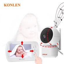 Baby-Monitor KONLEN Surveillance-Camera Video-Nanny Temperature-Detection Sound HD 1080P