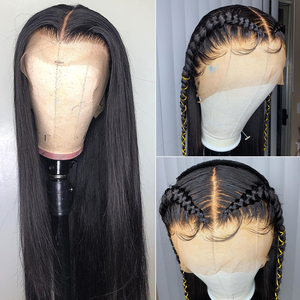 Image 2 - Rosabeauty Long 360 Lace Frontal Wig pre plucked with baby Hair Brazilian Straight Lace Front Human Hair Wigs for black women