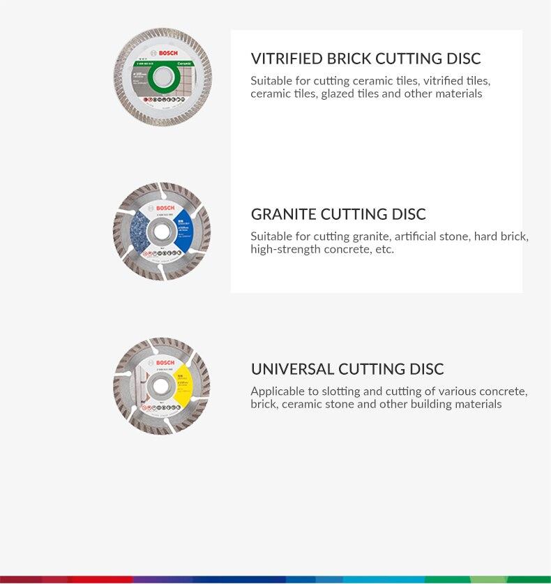 Verified brick cutting disc