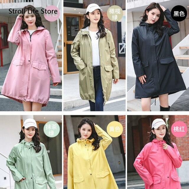 Long Adult Rain Coat Women Waterproof Suit Rain Poncho Outdoor Hiking Windbreaker Yellow Raincoat Jacket Gabardina Mujer Gift 5