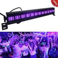 Boże narodzenie 12 LED Disco UV fioletowy czarny światła DJ 36W Par lampa UV na imprezę lampa na barek sceniczne laserowe ścienne podkładka światło punktowe podświetlenie w Oświetlenie sceniczne od Lampy i oświetlenie na