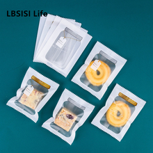 LBSISI Life 100pc Hot Seal Bag Nougat Biscuit Cookie Candy Chocolate Baking Machine Sealed Packaging Bags Supplies Event & Party