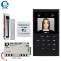 TCP/IP/USB Door Access Control System with Software Vein Biometric Facial Recognition Keypad + Electromagnetic Strike Bolt Lock
