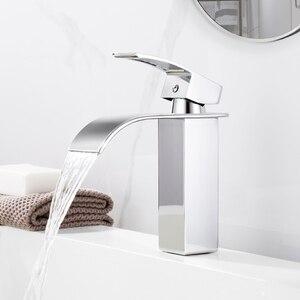 Image 2 - Yepyeni cilalı havzası evye su musluğu tek kolu tek musluk mikser delik güverte üstü havzası banyo musluk WB 003