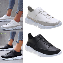 Shoes Woman Lace up Sneakers zapatos de mujer Soft Sneakers Women PU Vulcanized Shoes Fashion femme Shoes Chunky Sneakers D30 pu patchwork lace up sneakers