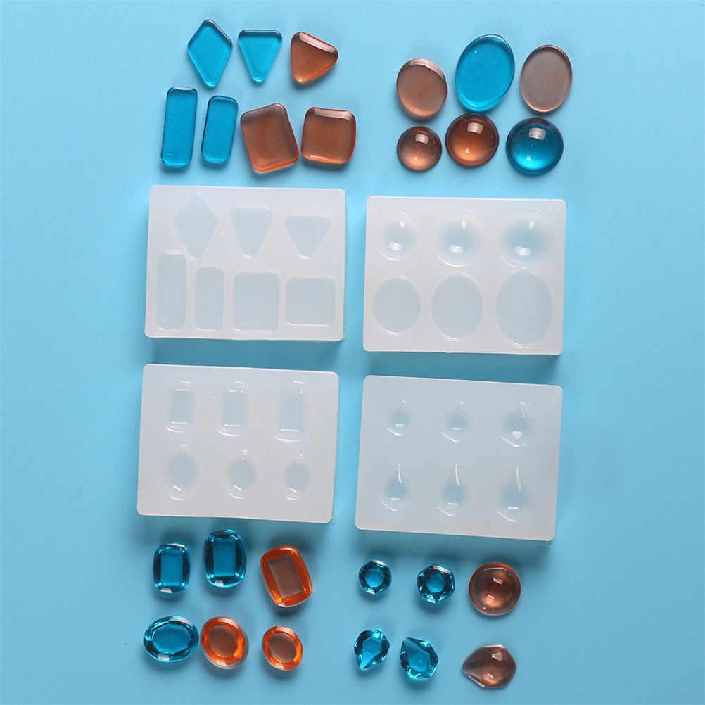 1 Pcs UV Resin Silikon DIY Cetakan Transparan untuk DIY Seni Keramik Membuat 4 Gaya Cetakan Liontin Hiasan Kerajinan