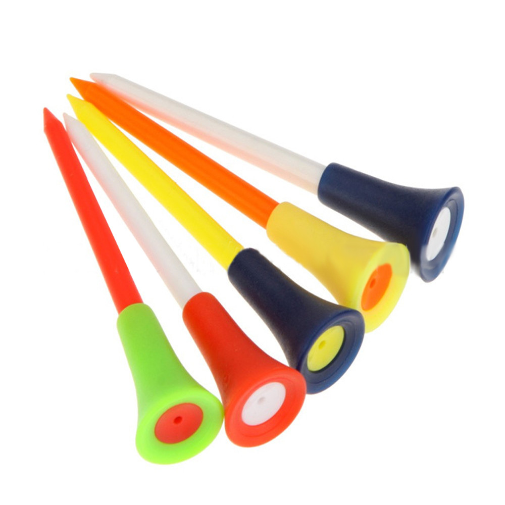 30pc Golf Tees 83mm Multi Color Plastic Golf Tees Durable Rubber Cushion Top Professional Golf Tee Wholesale D2