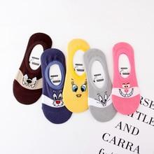 Funny Animals Women Socks for Female Cute Kawaii Girls Cartoon Slipper Cotton Thin Low Cut Women Boat Socks Casual Short Socks