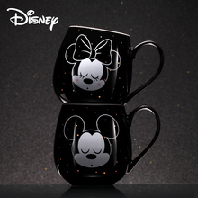 Disney Creative Water Cup Mickey Minnie Cartoon Ceramic  Coffee Fashion Couple Cute Mugs Mug Cups and