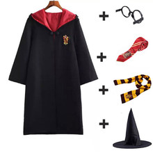 Adult Kids Cosplay Costume School Magic Robe Cloak Cosplay Clothes Halloween Costumes Christmas Gifts Dropshipping