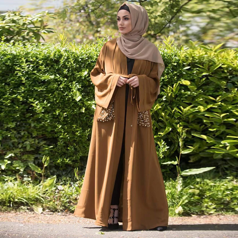 Pearl Abaya Turkish Kimono Hijab Muslim Dress Islamic Clothing Abayas For Women Robe Dubai Caftan Marocain Kaftan Djelaba Femme