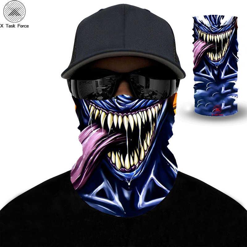 جديد Venom وشاح الرجال النساء ماجيك ثلاثية الأبعاد تنفس أغطية الرأس الأنشطة في الهواء الطلق الدراجات الجافة سريعة وشاح الموضة الملونة عقال الرجال