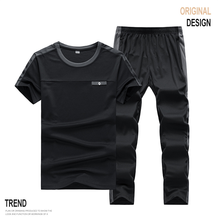 Tracksuits Men Sweatshirt Sporting 2020 New Summer T-shirt + Pants + Short Casual Track Suit Fashion Sportswear Fitness Jogger