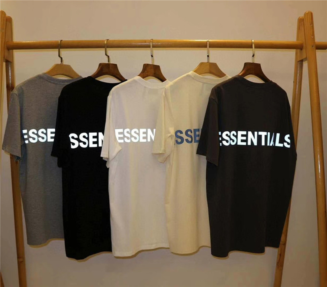 3M Reflective FOG Essentials Boxy T Shirt Men Wome Casual 1:1 High-Quality Essentials T-shirts Top Tees Harajuku