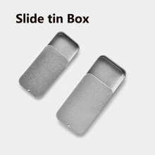 20pcs empty mint sliding tin box Metal packaging Slide die lid Tins Container metal Storage Survival