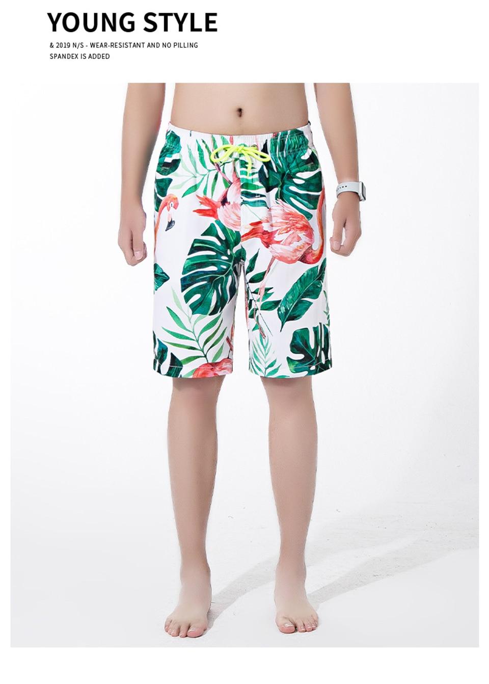cintura elástica homens shorts com bolso casual