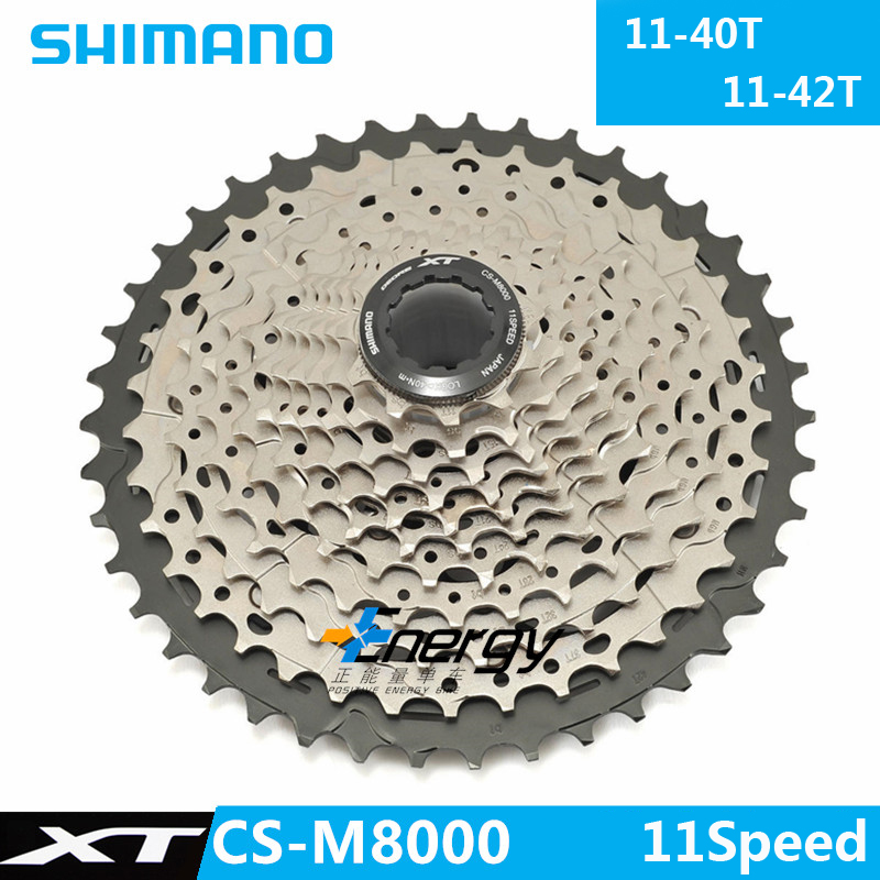 SHIMANO Deore XT M8000 MTB Mountain Bike Flywheel Sprocket Tape <font><b>11</b></font>-40/42/46T Bicycle Cassette bicycle Parts 11Speed image