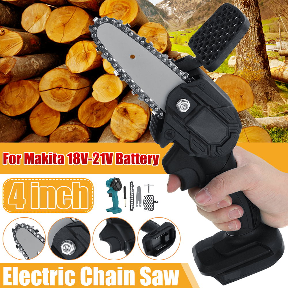 800W Mini Electric Chain Saw Electric Saw Pruning One-handed Garden Tool for Makita 18V-21V Battery Woodworking Power Tools