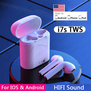 Original i7s TWS Wireless Headphones Bluetooth Earphone Air Stereo Earbuds Sport Headset With Charging Box For iPhone Android