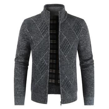 OLOEY Men's Jacket Coats 2019 Autumn Winter Long Sleeve Jacket Men Zipper Fleece  Outdoor Outwear Men Jackets Coat 19AUG30