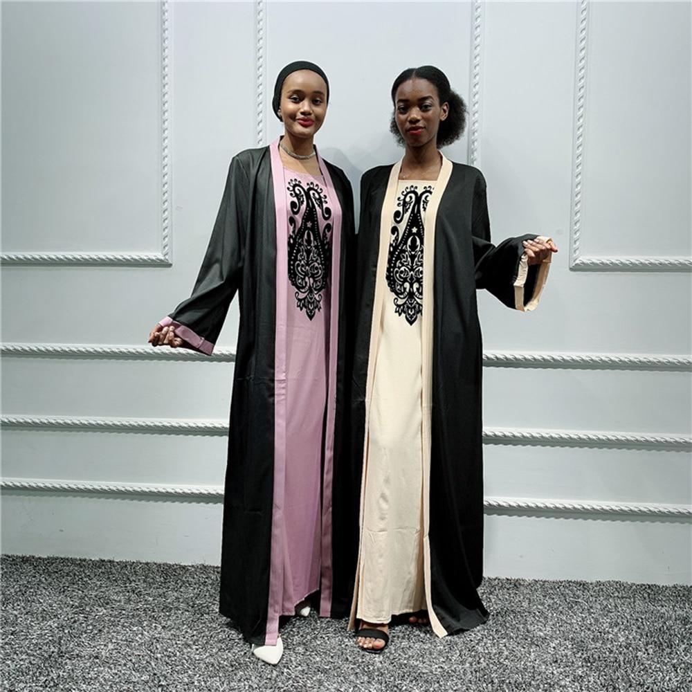 Plus Size Women Abaya Dubai Hijab Muslim Dress Pakistan Turkish Dresses Moroccan Kaftan Islamic Clothing Turkey Ropa Arabe Mujer