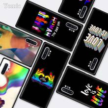 Gay Lesbian LGBT Rainbow Black Cases for Samsung Galaxy Note 10 5G 9 8 M40 M30 M20 S10 Plus A50 A70 Silicone Phone Cover