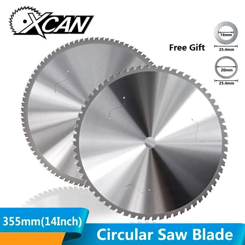 Xcan 1pc 355mm (14 Polegada) 66/90 dentes lâmina de serra circular para ferro de alumínio aço metal disco de corte carboneto lâmina de serra