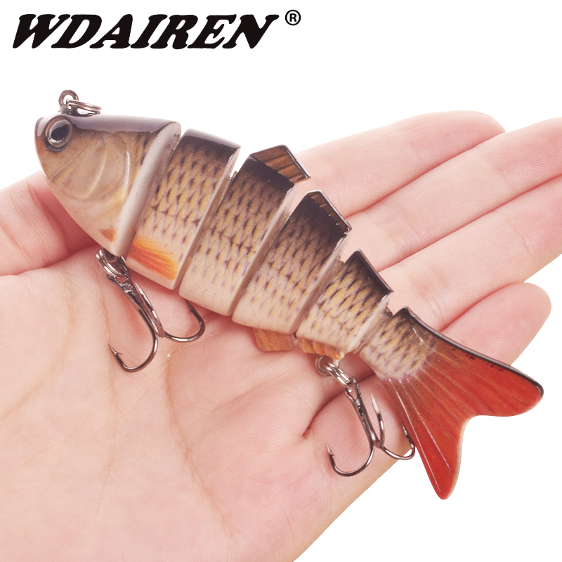 1PCS Sinking Wobblers Fishing Lures 10cm 20g 6 Multi Jointed Swimbait Hard Artificial Bait Pike/Bass Fishing Lure Crankbait