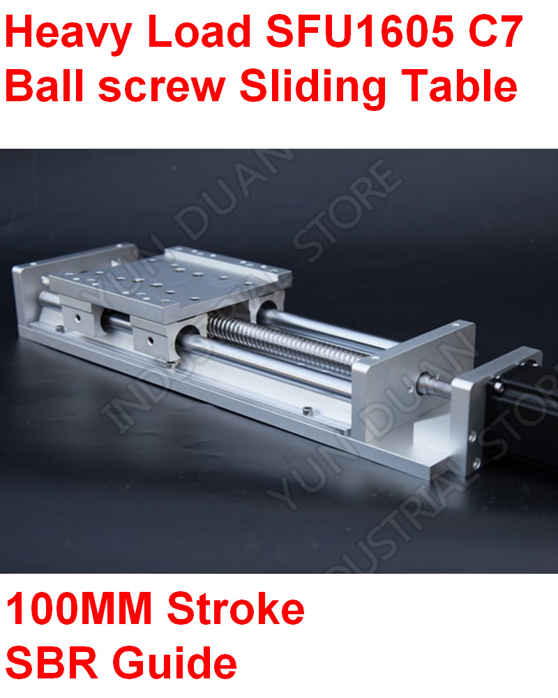 Cnc de carga pesada precisão elétrica de moagem slides mesa linear fase sfu1605 c7 bola parafuso sbr guia 200mm curso plataforma