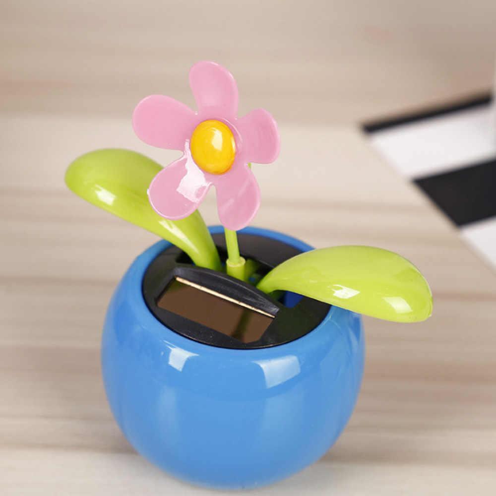 2 Pcs Solar Happy Tari Bunga Matahari Apple Bunga Merah Muda Dan Biru Swing Solar Mainan Anak Hadiah Mobil Dekorasi Lucu Mainan Aliexpress