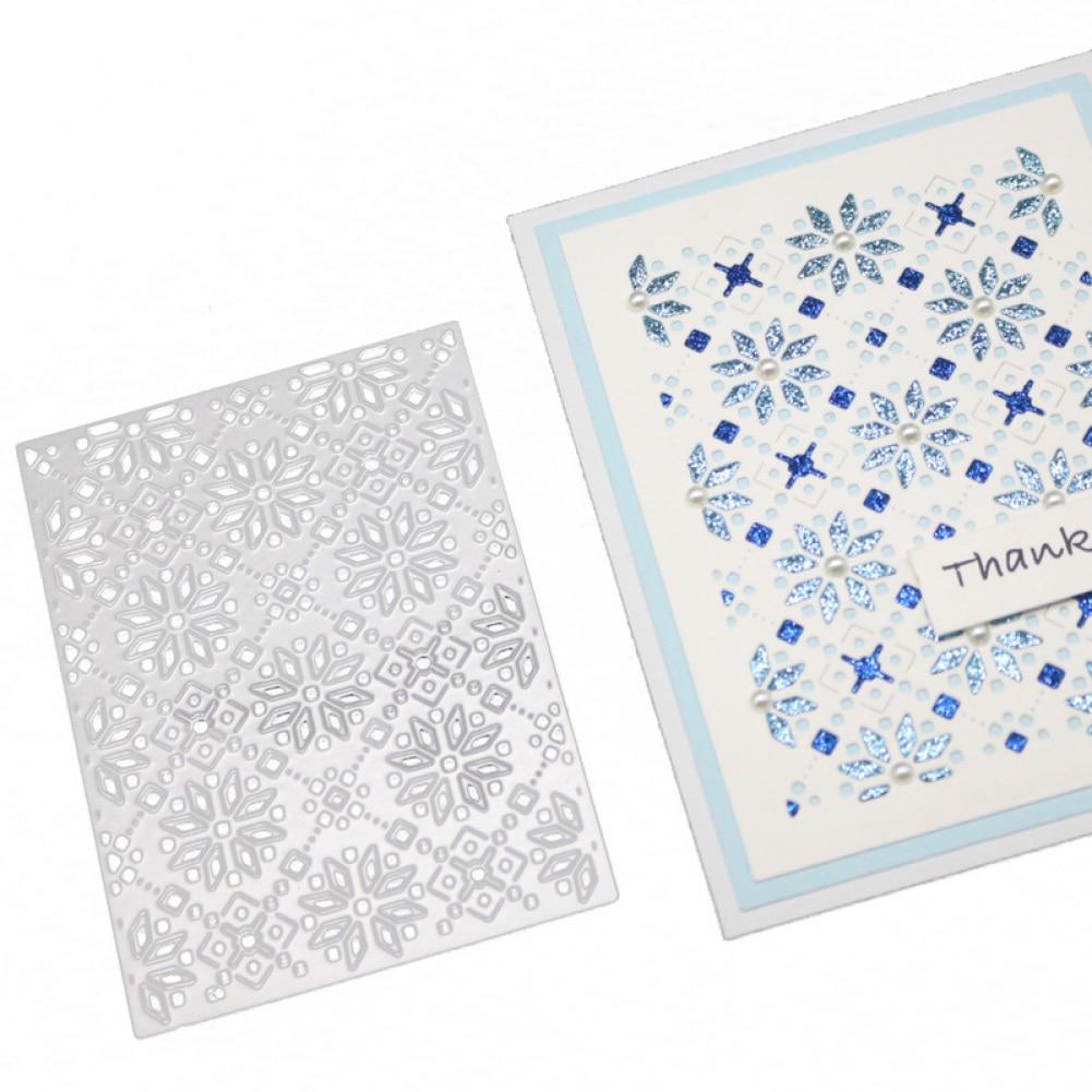 NEW Frames Rectangle Card Snowflake Lattice Making Scrapbooking Dies Metal Crafts Metal Cutting Dies Greeting Card Handmade