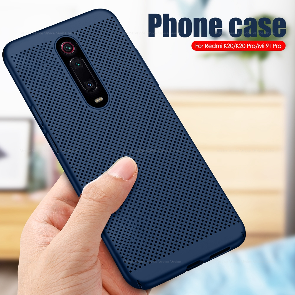 Cooling Mesh Case For Xiaomi Mi 9T Pro 9 Mi9t Mi9 T Pro A3 Lite Heat Dissipation Hard PC Cover For Xiaomi Redmi K20 Note 8 Pro