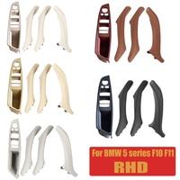 5 Kleur Auto Lederen Side Interieur Deurklink Sedan Panel Pull Trim Rhd Fit Voor Bmw 5 Serie F10 F11 520i 523i 525i 528i 535i