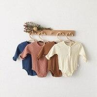 MILANCEL/новая осенняя одежда для малышей; хлопковые комбинезоны для детей в полоску; детский игровой костюм для мальчиков