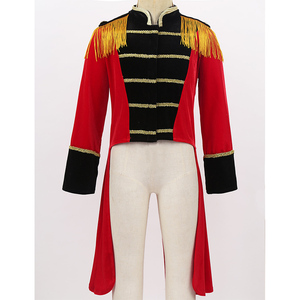 Image 2 - Kids Halloween Long Sleeves Stand Collar Fringes Gold Trimmings Tailcoat Jacket Boys Roleplay Party Ringmaster Circus Costume
